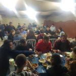 סטודנטים אמריקאים מאוניברסיטת רמת אביב בארוחת ערב